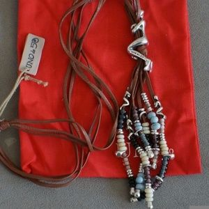 NWT Uno De 50 MOWGLI Long Tassel Necklace Retired